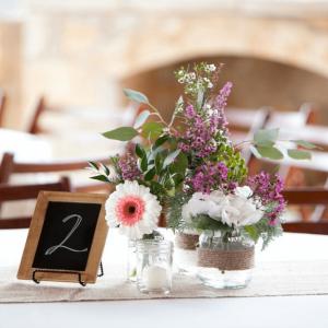 Riven Rock table flowers